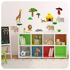 stickers animaux chambre bébé décoration murale chambre enfant 2 planches stickers animaux d