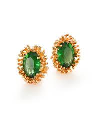clip on stud earrings house of lavande 1950s vintage faceted clip on stud earrings in