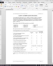 customer survey template word saneme