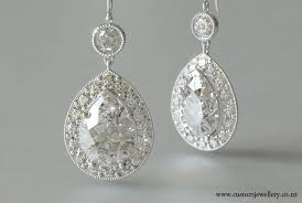 diamond earrings nz pear cut diamond pendant halo earrings vintage style new zealand