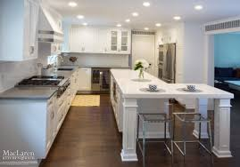 kitchen island with seating area white quartz transitional kitchen u2013 bryn mawr pa maclaren