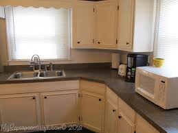 Upgrade Kitchen Cabinet Doors Kitchen Cabinets Updated With Paint U0026 Trim My Repurposed Life