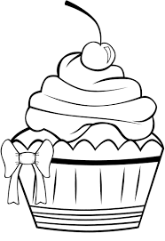 cupcake line drawing free download clip art free clip art on