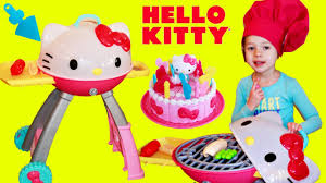 hello kitty grill pretend play kitchen play food cake u0026 vacuum