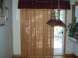 Patio Door Valance Light Brown Ethnic Curtain For White Wooden Glass Patio Door Cover