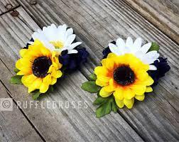 sunflower corsage sunflower corsage etsy