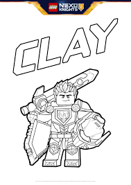 clay with shield colouring page activities nexo knights lego com