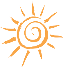 clipart simple sun motif
