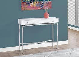 Accent Table L Monarch Specialties Accent Table 42 Inch L Glossy White