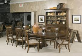 kincaid alston solid wood round table dining set with custom with