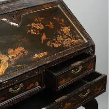 export bureau an 18th century export black lacquer bureau timothy langston