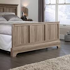 sauder barrister lane salt oak queen footboard 419372 the home depot
