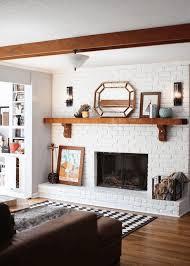 small corner fireplace nature wall art decor full size bookcase