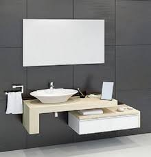 mensola lavabo da appoggio mobile bagno con mensolone e cassetto it casa e cucina