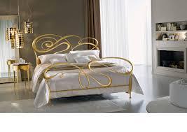 Silver Leaf Bedroom Furniture by Fly Wrought Iron Double Bed From Italian Art Work Ciacci