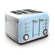 4slice Toasters Special Edition Accents Azure 4 Slice Toaster Morphy Richards