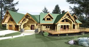 tal ranch home plan by big foot log timber homes