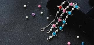 diy bead chain bracelet images Pandahall original diy how to make pink blue red glass bead jpg