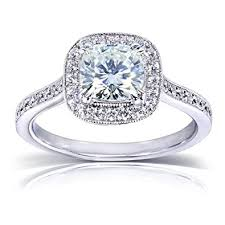 1 carat halo engagement ring near colorless f g moissanite engagement ring with halo
