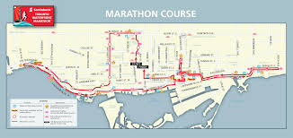 Boston Marathon Route Map by Scotiabank Toronto Waterfront Marathon Toronto Ontario Ca 10