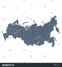 russia map isolated on white background stock vector 577472887