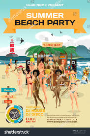 vector summer party invitation beach style stock vector 432711121