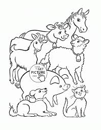 farm animals cartoon for coloring book vector of farm