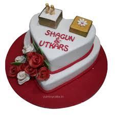engagement cake designs 1st anniversary cake 1st wedding anniversary cake yummycake