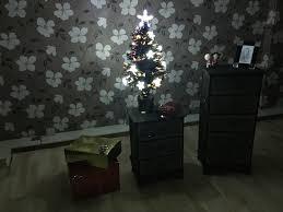 black christmas tree fibre optic standing decorations lights skirt