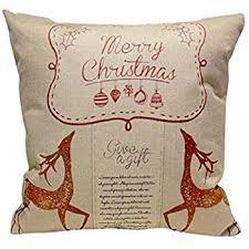 Christmas Decorative Pillows Amazon amazon com christmas decorative pillow cover thomas kinkade