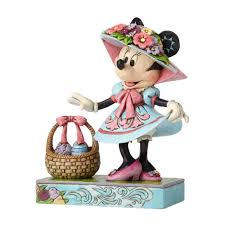 jim shore thanksgiving figurines easter finery minnie mouse in easter bonnet figurine jim shore