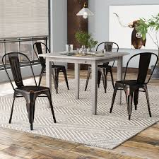 Tolix Dining Table Williston Forge Javier Stackable Tolix Dining Chair Reviews