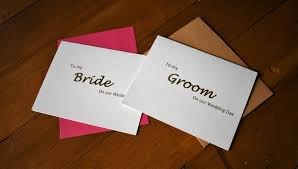 wedding vow cards wedding vows to my groom card to my card gold foil cards