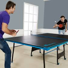 table tennis and ping pong ping pong table tennis black blue official size sports indoor game