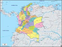 Columbia Campus Map Colombia Political Wall Map Maps Com