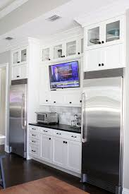 tv in kitchen ideas top kitchen trends electronic items traditional décor and wall mount