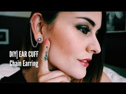 what is ear cuff diy ear cuff chain earring