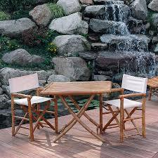 tavolo da giardino prezzi set da giardino elly in bamboo con tavolo e 2 sedie galaxyprice