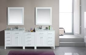 Modern Small Bathroom Vanities by Adorna 92 Inch Transitional Double Sink Bathroom Vanity White Finish