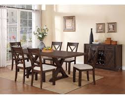 7 Piece Dining Room Set Claira 7 Piece Dining Room Set Rustic Brown Leon U0027s