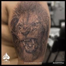lion tattoo designs ace tattooz best tattoo studio in mumbai india