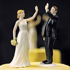 and groom figurines high five and groom cake topper the knot shop