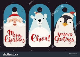 merry christmas vector labels funny christmas stock vector