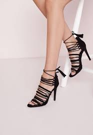 ultra strappy lace up gladiator sandals black missguided