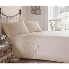 Embroidered Duvet Cover Sets Eleanor James Vintage Hearts Embroidered Duvet Cover Set Gold