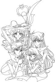 the outer senshi coloring page sailormoon sailor moon