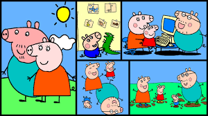 peppa pig coloring pages part 4 peppa pig coloring book youtube