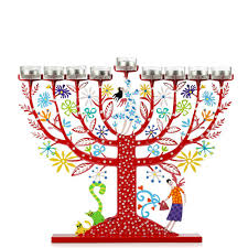 tree of menorah modern hanukkah menorah hanukkah candle holder tzuki חנוכיות