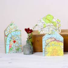 new house gift little house map location ornament new home gift by bombus
