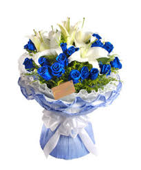 blue roses delivery blue sea china flower delivery blue roses to china